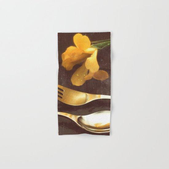 Flowers on Slate, variation 3 Hand & Bath Towel