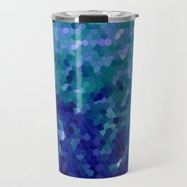 Deep Blue Ocean Mosaic Tile Travel Mug