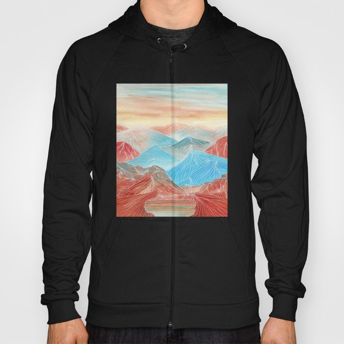 Lines in the mountains XX Hoody