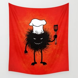 Evil Bug Chef Loves To Cook Wall Tapestry