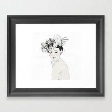 Flowers crown Framed Art Print