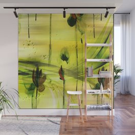 Dancing Flowers Abstract Wall Mural