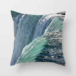 Niagara Falls - Closeup Throw Pillow