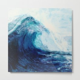 Waves II Metal Print