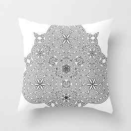 Balanced Flowering Hexad Throw Pillow