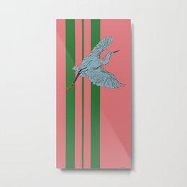 Egret for Dwell Hotel Metal Print