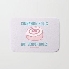 #BreakTheBinary (Cinnamon Rolls Not Gender Roles) Bath Mat