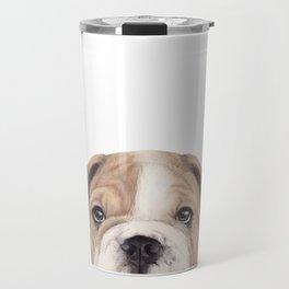Bulldog Original painting Dog illustration original painting print Travel Mug
