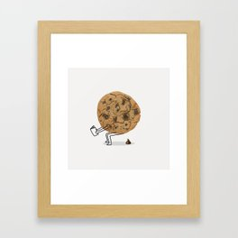 The Making of Chocolate Chips Framed Art Print