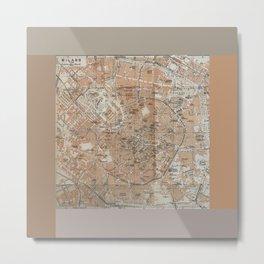 Milan, Italy / Milano, Italia antique map Metal Print