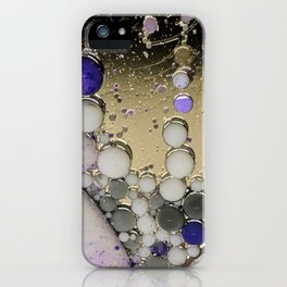 Silver lining bubbles iPhone Case