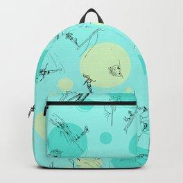Surf Crazy Pattern Design Backpack