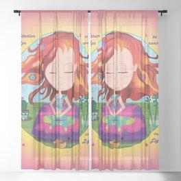 Meditation Om Zen Sheer Curtain