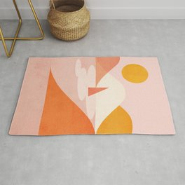 Abstraction_Lake_Sunset_Minimalism_001 Rug