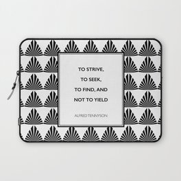 Alfred Lord Tennyson - To Strive, To Seek Laptop Sleeve