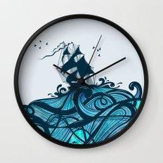 Upon The Sea Wall Clock