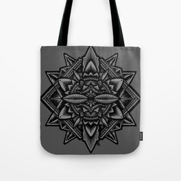 Sacred Geometry Flower of Life Mandala Tote Bag