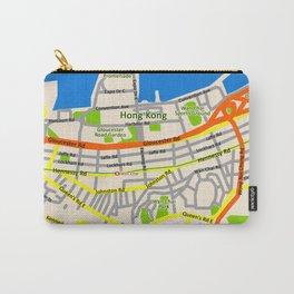 Hong Kong Map design Carry-All Pouch