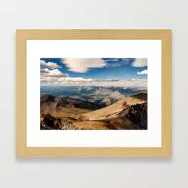 Patagonia mountain landscape, Argentina Framed Art Print