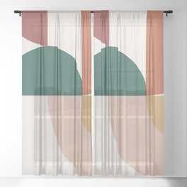 Abstract Geometric 12 Sheer Curtain