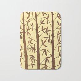 Gold Bamboo Trees Bath Mat