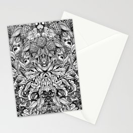 Summer Foliage, Black and White Stationery Cards