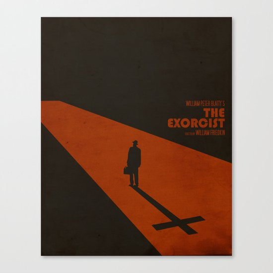 The Exorcist Inspired Vintage Movie Poster Canvas Print