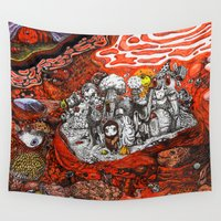 ashton irwin Wall Tapestries featuring Islands in Red Sea by Maethawee Chiraphong
