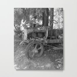 Final Resting Place Old Tractor Metal Print