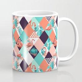 Mint and Coral Flamingos 2 Coffee Mug