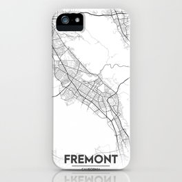 Minimal City Maps - Map Of Fremont, California, United States iPhone Case