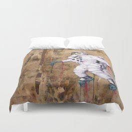 My Father became an Astronaut to young Duvet Cover