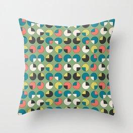 Pie Green Throw Pillow