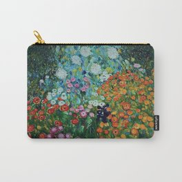 Flower Garden Riot of Colors by Gustav Klimt Carry-All Pouch