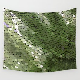 Green spangle Wall Tapestry
