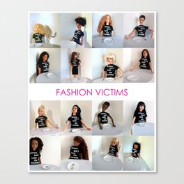 Fashion Victims Poster - alternate format Canvas Print