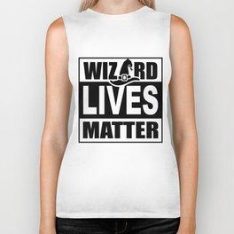 Wizard Lives Matter Retro Halloween Sorcerer Light Biker Tank