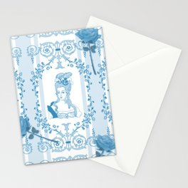 Marie-Antoinette Monogram (Aqua) Stationery Cards