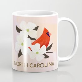 north carolina state bird and flower coffee mug