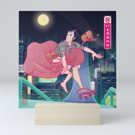 侍スケートボーダー(Samurai Skateboarder) Mini Art Print