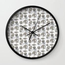 Ernst Haeckel Jellyfish Leptomedusae Silver  Wall Clock
