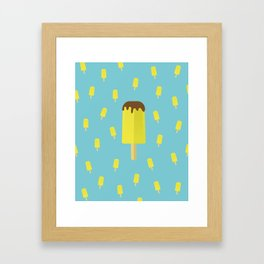 Summer time ice cream popsicle Framed Art Print