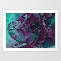 karen hallion Art Prints featuring Karen by Rachel Garrity