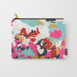 Inez - Modern Abstract painting in bold colors for trendy modern feminine gifts ideas  Carry-All Pouch