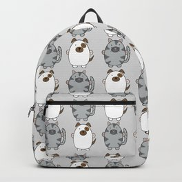 Cats and Dogs on grey Backpack