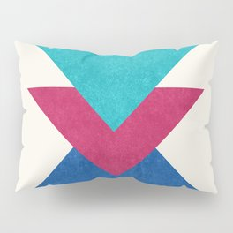 Geometric Blocks in Blue Pillow Sham