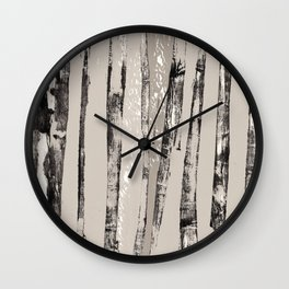 Shadow Branches Wall Clock
