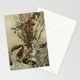 """""""Dancing With the Fairies"""" by Arthur Rackham Stationery Cards"""
