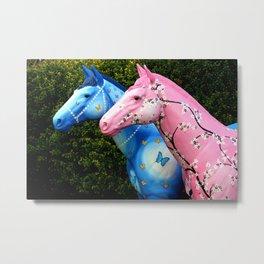 Wild Carousel Horses Metal Print
