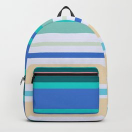 Seamless striped marine pattern, for easy decoration. Backpack